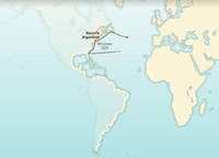 Las primeras exploraciones de las costas del «Nuevo Mundo»