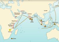 El comercio en el océano Índico en el siglo XV