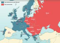 La división de Europa tras la Segunda Guerra mundial